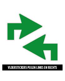 vloerstickers hoek pijlen groen