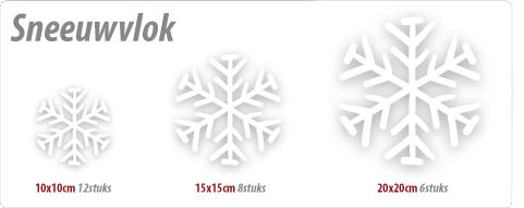 sneeuwvlokken etalagesticker