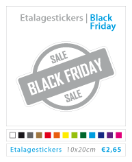 Black friday etalagestickers